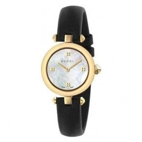 Ladies Gucci Diamantissima Yellow PVD MOP Dial Watch