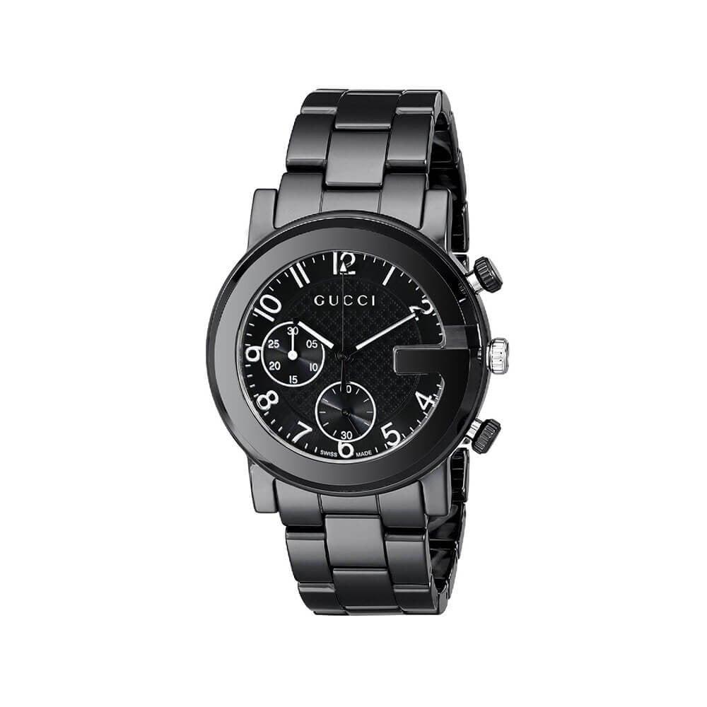 e70cc3b55dc Gucci LadiesG-Chrono Black Ceramic Bracelet Chronograph Watch