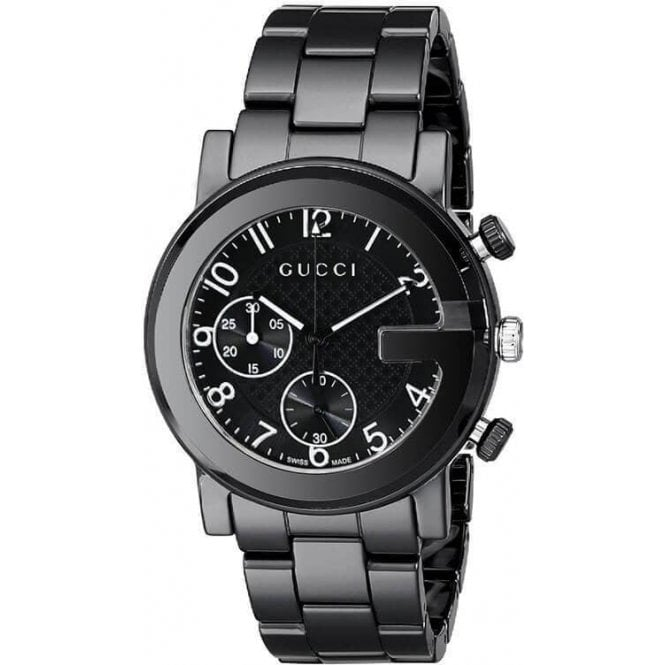 Gucci Ladies Gucci G-Chrono Black Ceramic Bracelet Chronograph Watch
