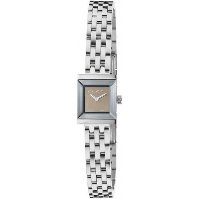 Gucci Ladies Gucci G-Frame Brown Dial Bracelet Watch