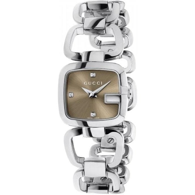Gucci Ladies Gucci G-Gucci Brown Dial Bracelet Watch