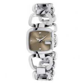 Ladies Gucci G-Gucci Brown Dial Bracelet Watch