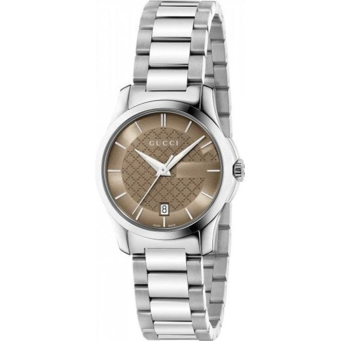 Gucci Ladies Gucci G-Timeless Brown Dial Bracelet Watch
