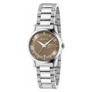 Ladies Gucci G-Timeless Brown Dial Bracelet Watch