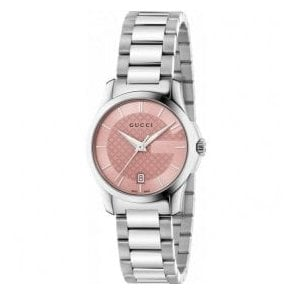 Ladies Gucci G-Timeless Pink Dial Bracelet Watch