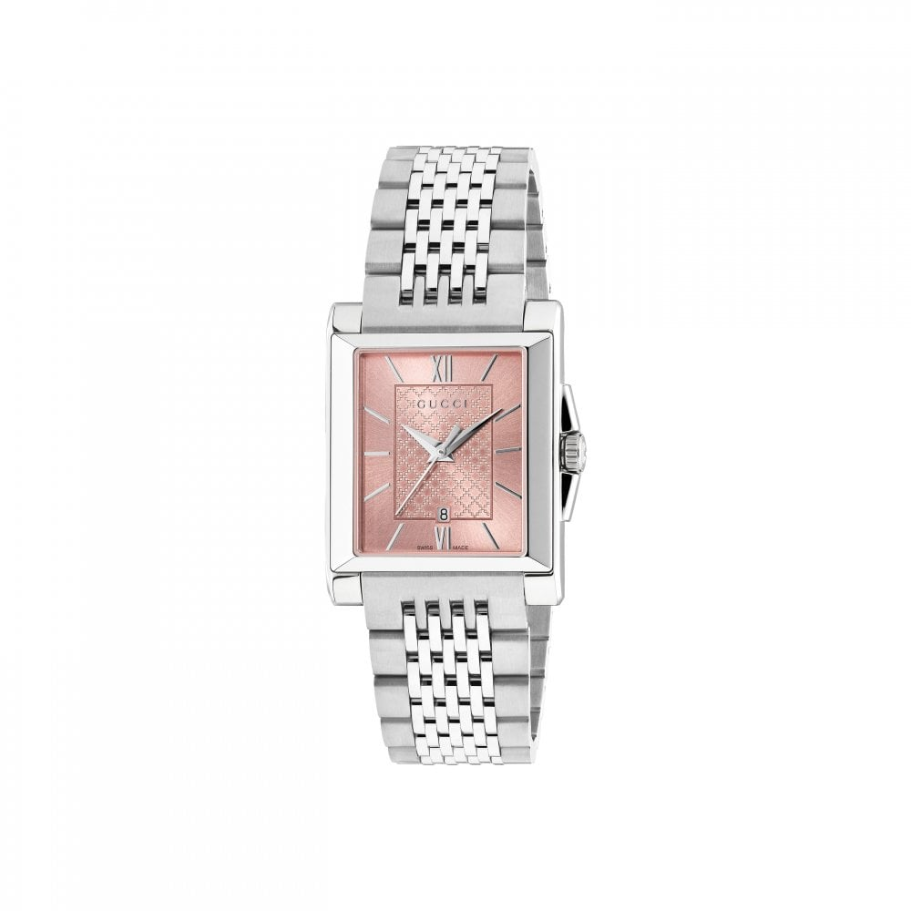 4cfcf9c4df9 Gucci Ladies Gucci G-Timeless Rectangle Silver Dial Bracelet Watch