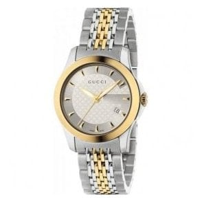 Ladies Gucci G-Timeless Two Tone Bracelet Watch