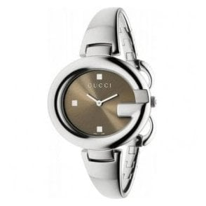 Ladies Gucci Guccissima Brown Dial Bangle Watch