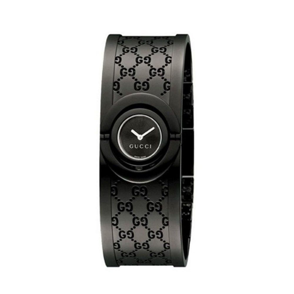 cf4d347b97c Gucci Gucci LadiesTwirl Black PVD Bangle Watch - Watches from Dipples UK