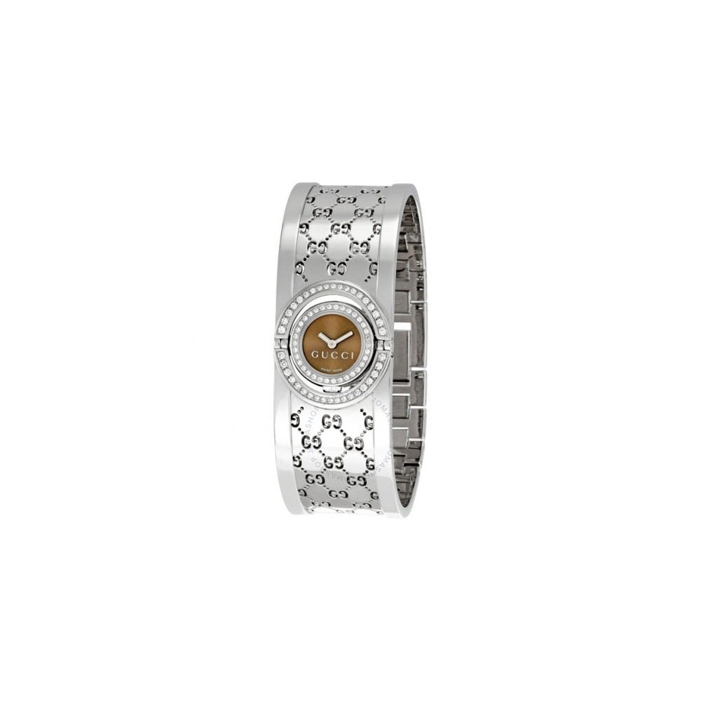 98bbd1bcadd Gucci Gucci LadiesTwirl Diamond Bezel Twirl Dial Bangle Watch ...