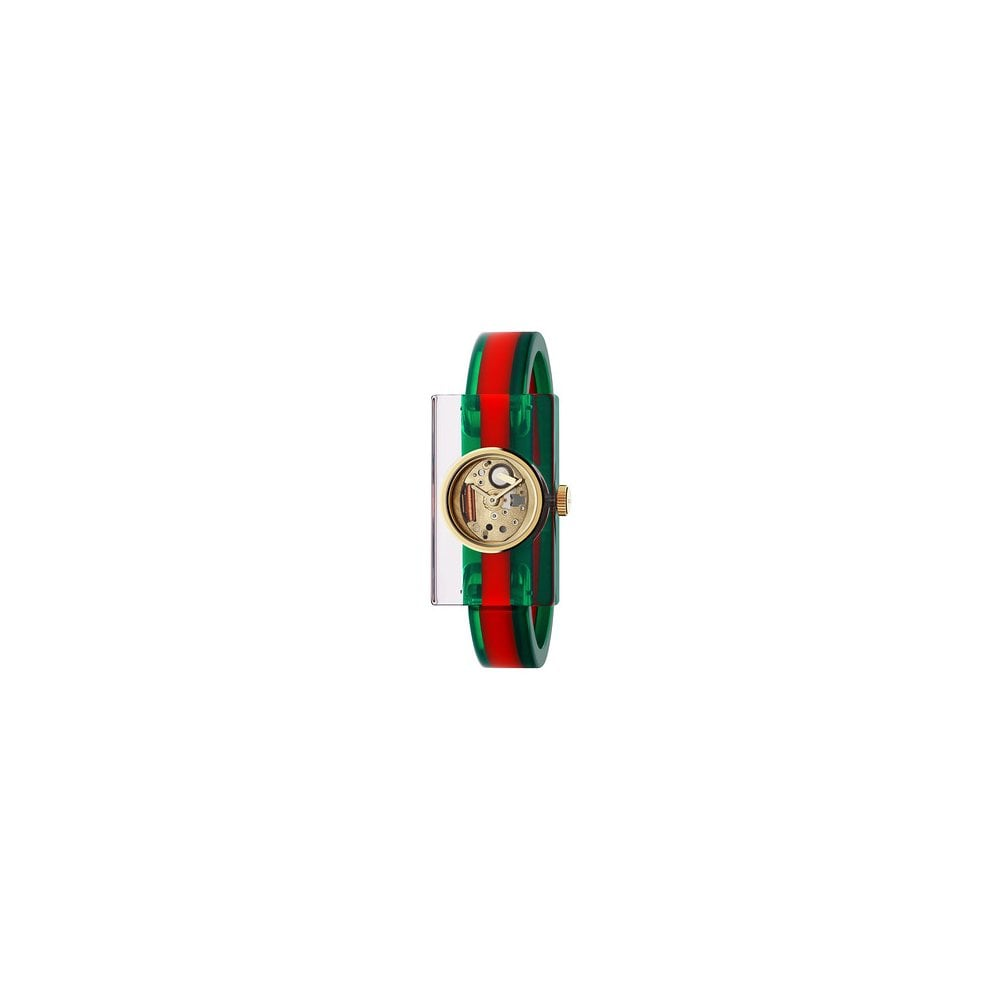70e0f76d1d7 Gucci Gucci LadiesVintage Web Plexiglass Skeleton Dial Bangle Watch ...