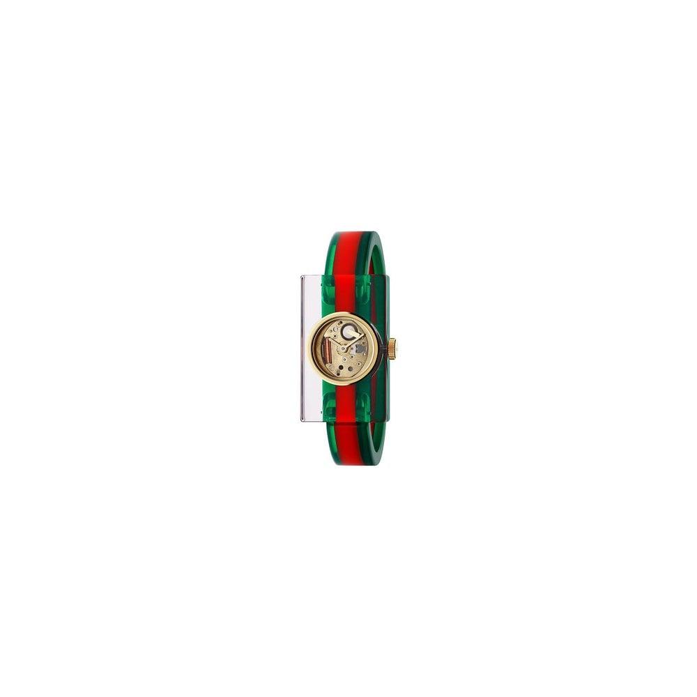 fb0c6b394f6 Gucci Gucci LadiesVintage Web Plexiglass Skeleton Dial Bangle Watch ...