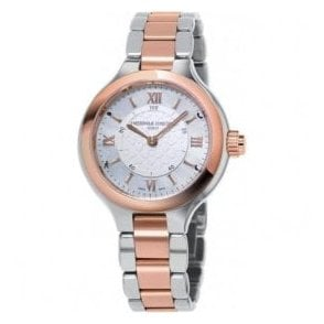 Ladies Horological Smartwatch MOP Dial Two Tone Bracelet Watch