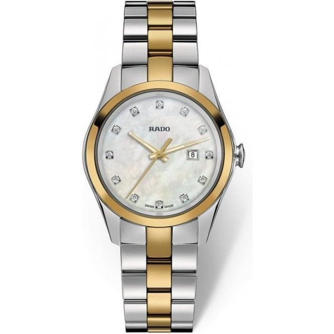 Rado Ladies HyperChrome MOP Diamond Set Dial Two Tone Quartz Watch