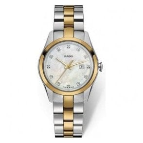 Ladies HyperChrome MOP Diamond Set Dial Two Tone Quartz Watch