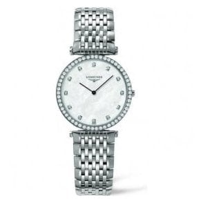 Ladies Longines La Grande Classique MOP Diamond Set Dial Watch
