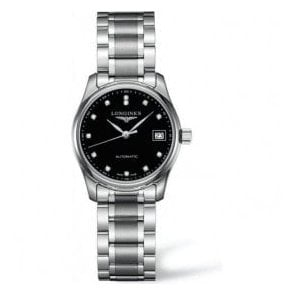 Ladies Longines Master Collection Automatic Black Dial Watch