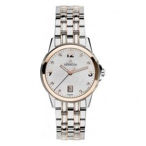 Ladies Michel Herbelin Ambassador Diamond Set Two Tone Watch