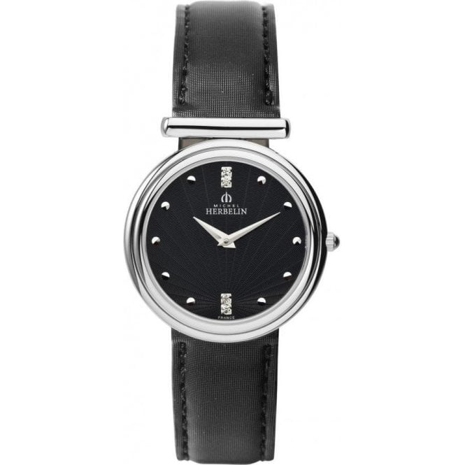Michel Herbelin Ladies Michel Herbelin Attelage Black Sunray Dial Watch