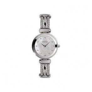 Ladies Michel Herbelin Cable MOP CZ Dial Bangle Watch