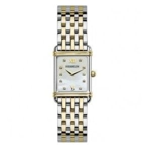 Ladies Michel Herbelin Esprit Art Deco Two Tone Bracelet Watch