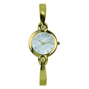 Ladies Michel Herbelin Salambo Gold PVD MOP Dial Bangle Watch