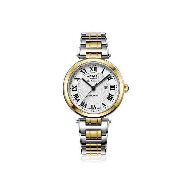 Rotary Ladies Rotary Les Originales Lucerne Two Tone Bracelet Watch