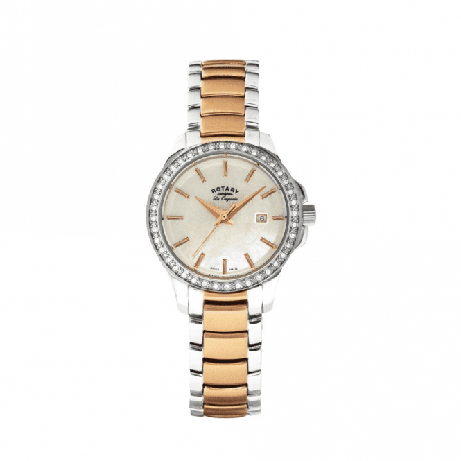 Rotary Ladies Rotary Les Originales Two-Tone Bracelet Watch