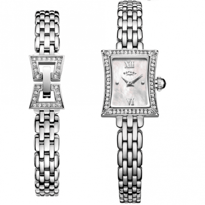 Rotary Ladies Rotary Slimline Watch and Bracelet Set