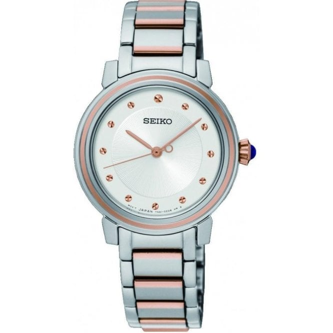 Seiko Ladies Seiko Quartz White Dial Two Tone Bracelet Watch