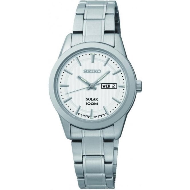Seiko Ladies Seiko Solar Day-Date Bracelet Watch