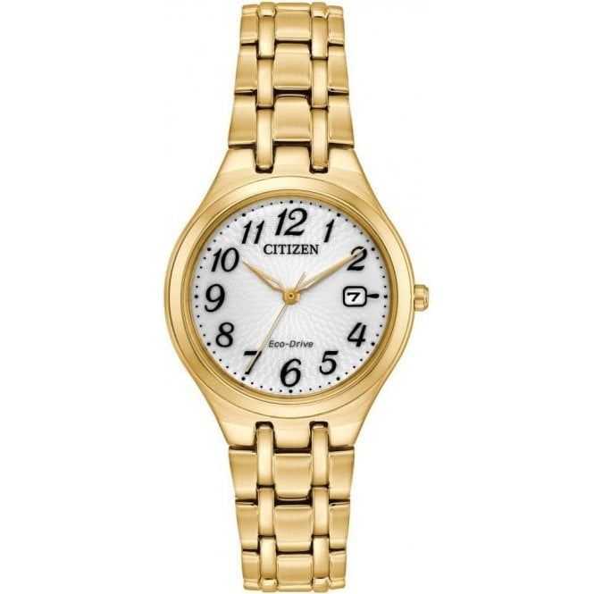 Citizen Ladies Silhouette Yellow Gold PVD Bracelet Eco-Drive Watch