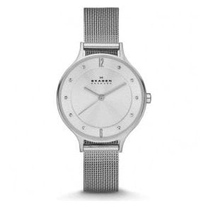 Ladies Skagen Anita Stainless Steel Mesh Bracelet Watch