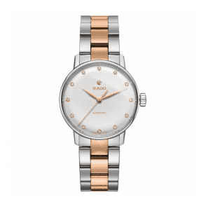 Ladies Steel and Rose Ceramos Coupole Classic Automatic