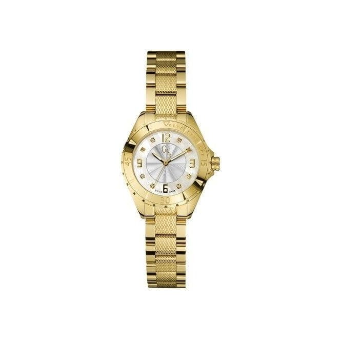 GC Lady's gold plated stainless steel quartz GC watch.