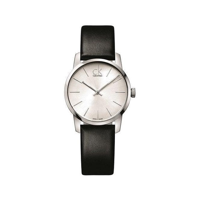 Calvin Klein Lady's Stainless Steel 'City' Silver Dial Strap Watch