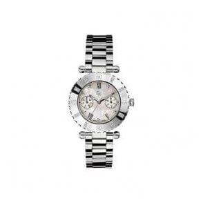 Lady's stainless steel  diamond set quartz GC watch.