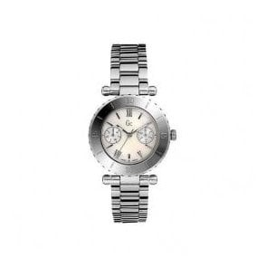 Lady's stainless steel quartz GC watch.