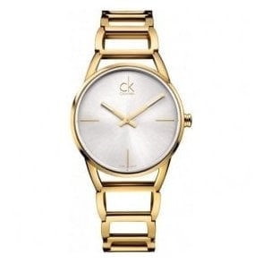 Lady's 'Stately' Gold PVD Silver Dial Bracelet Watch