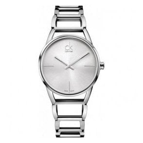Lady's 'Stately' Stainless Steel Silver Dial Bracelet Watch