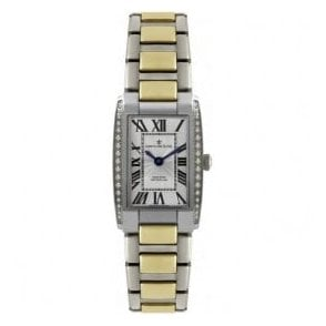 Lady's two tone bracelet watch