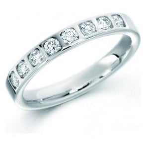 Platinum 8 diamond set eternity ring