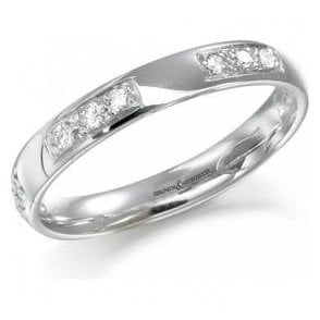 Platinum diamond set modern eternity ring