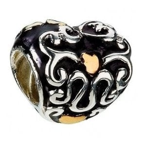 Silver & 14ct bead - Heart and Soul