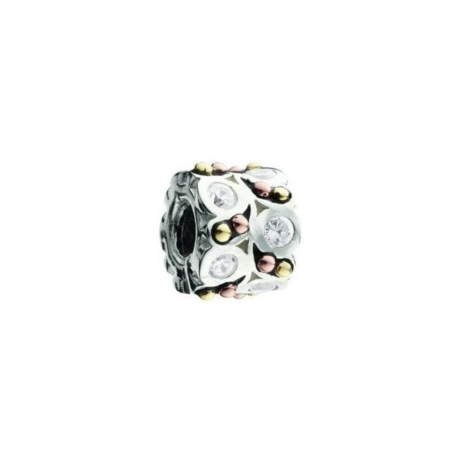 Chamilia Silver and 14ct gold bead - A Night out