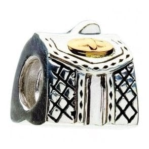 Silver and 14ct gold bead - Purse