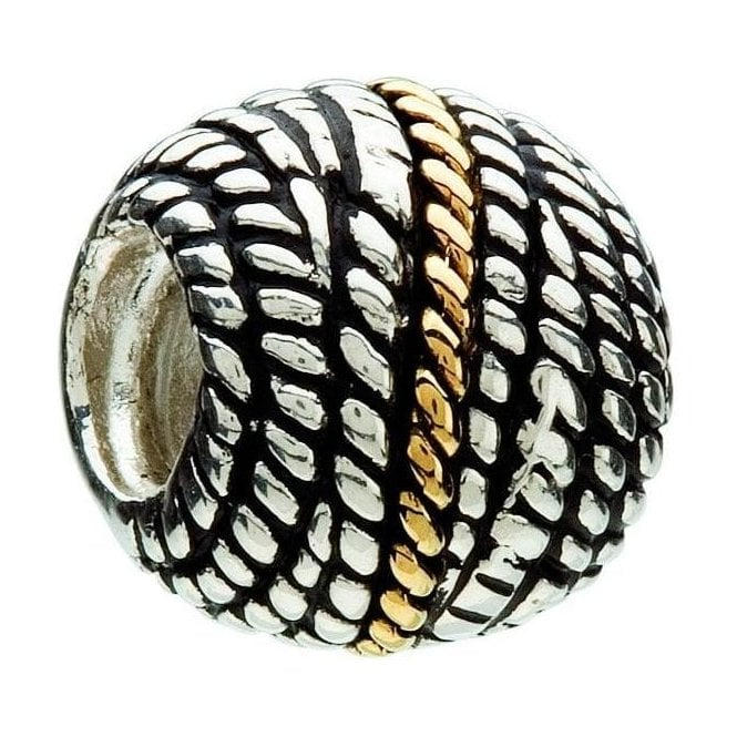 Chamilia Silver and 14ct gold bead - Rope