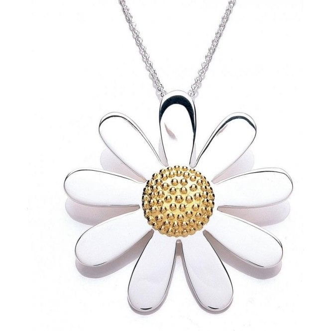 Daisy London Silver and gold plated 40mm pendant and chain