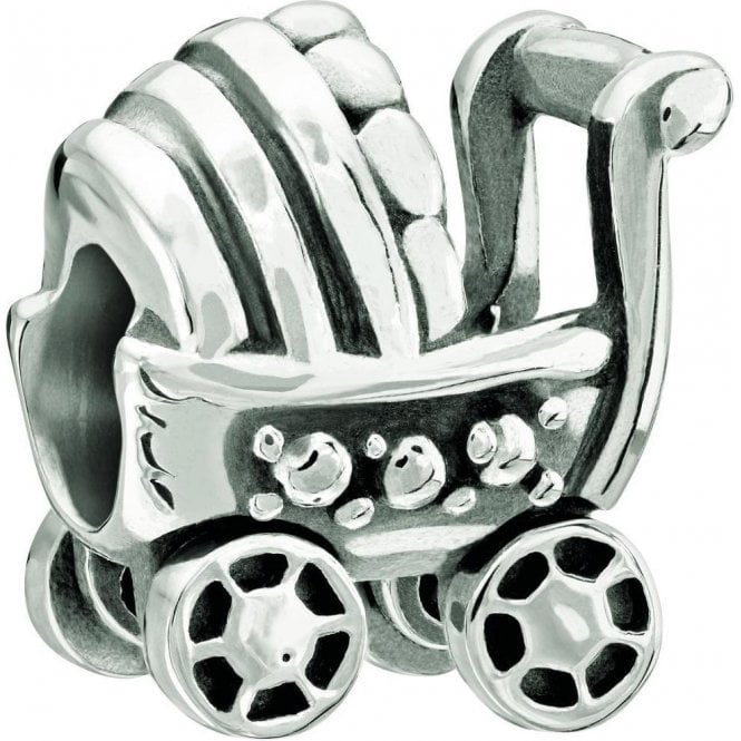 Chamilia Silver bead - Baby Buggy