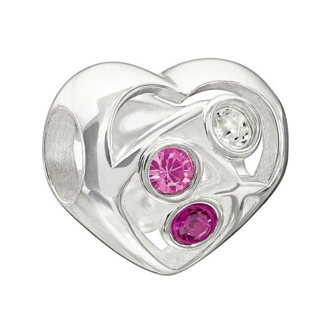 Chamilia Silver bead - Blooming love - Clear & pink - LTD edition 2013
